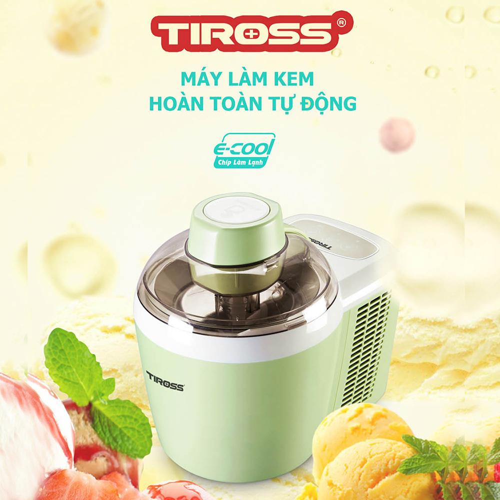 Máy Làm Kem Tự Động Tiross TS9090 (Hồng)